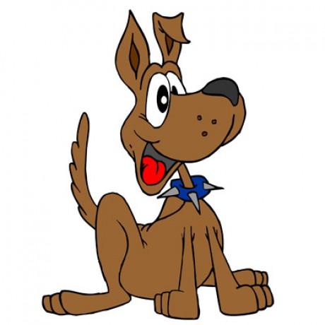 1kreslený pes